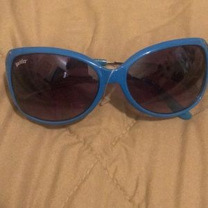 Authentic hustler oversized sunglasses blue